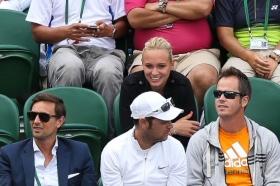 Donna Vekic insieme all'entourage di Wawrinka a Wimbledon 2014