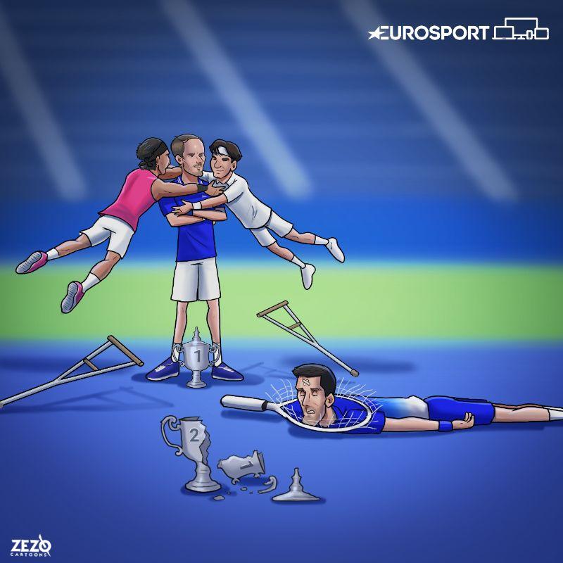 La vignetta pubblicata da Eurosport UK