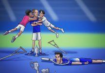 Eurosport UK pubblica su Twitter una vignetta satirica su Djokovic che fa discutere