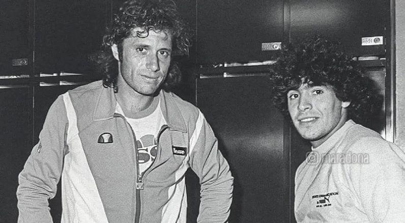 Guillermo Vilas e Diego Armando Maradona nella foto
