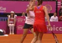 Fed Cup – Italia vs Ucraina 3-2: Flavia Pennetta e Roberta Vinci si aggiudicano il doppio. L'Italia è in semifinale. Ad aprile sfideremo la Rep. Ceca in trasferta