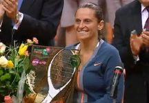 Video del Giorno: Gli ultimi punti della vittoria di Roberta Vinci contro Petra Kvitova e la premiazione con le dichiarazioni dell'azzurra