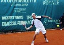 Challenger Barletta: Aljaz Bedene rivelazione del torneo. Supera in finale Filippo Volandri e trionfa in Puglia
