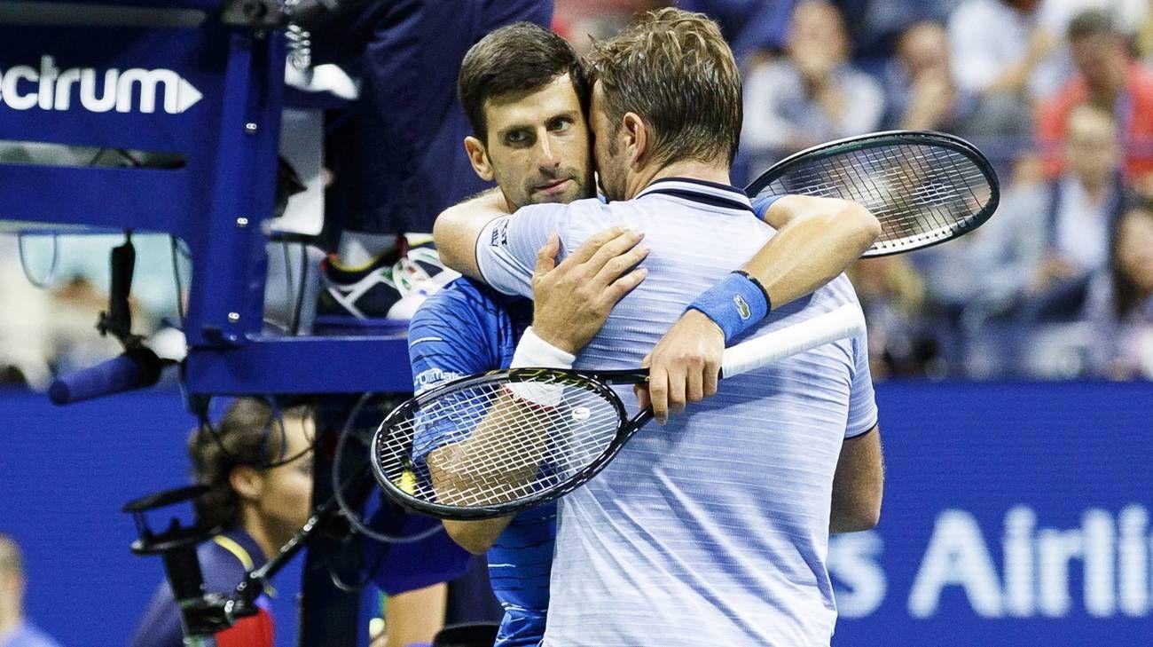 Stan Wawrinka e Novak Djokovic nella foto