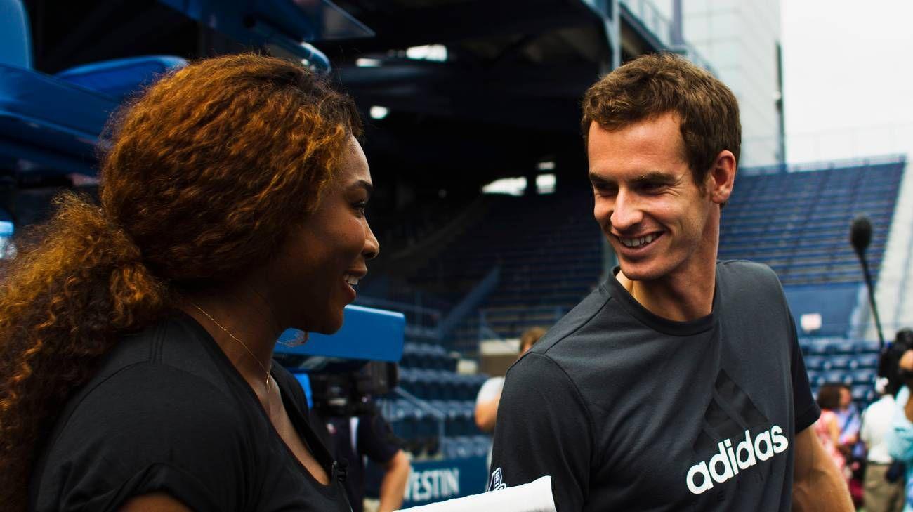 Andy Murray e Serena Williams nella foto