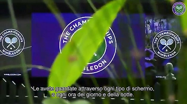 """Le toccanti parole di Roger Federer """"voce narrante"""" per il torneo di Wimbledon (Video)"""