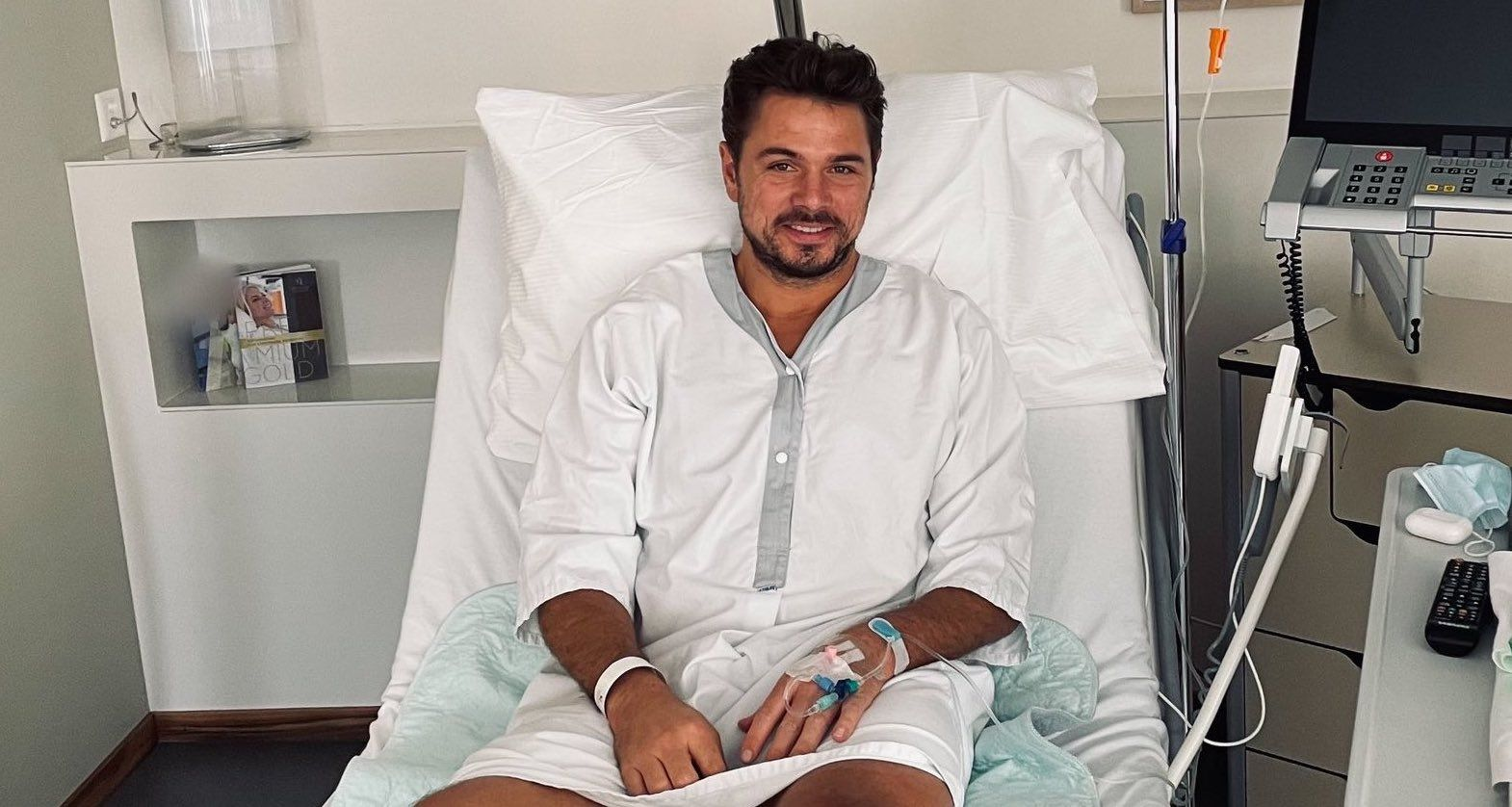 Stan Wawrinka dopo l'intervento