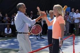 Caroline Wozniacki con Barack Obama