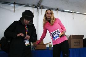 Caroline Woxniacki alla maratona di New York