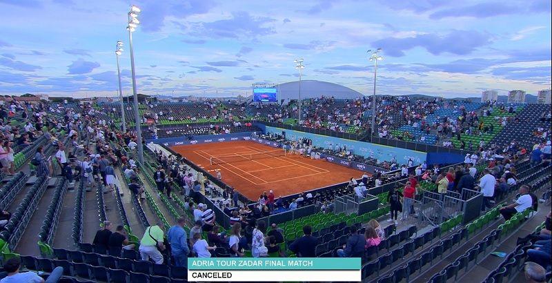 Adria Cup: Annullata la finale tra Djokovic e Rublev a Zara. Tutti i tennisti sono in albergo per fare il test al Covid-19
