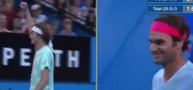 Curiosa situazione nel match tra Federer e Zverev alla Hopman Cup