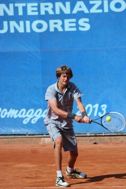 Alexander Zverev quando era impegnato alcuni anni fa nel torneo di Salsomaggiore
