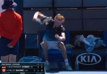 Da Melbourne: La rabbia di Alexander Zverev nel match contro Raonic (VIDEO)